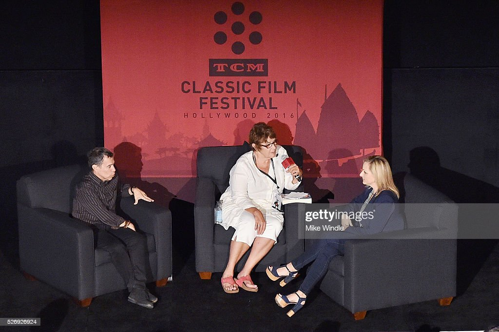 Sign language interpreter Jack Jason, author Cari Beauchamp and actress Marlee Matlin speak onstage at 'Children of a Lesser God' screening during day 4 of the TCM Classic Film Festival 2016 on May 1, 2016 in Los Angeles, California. 25826_008