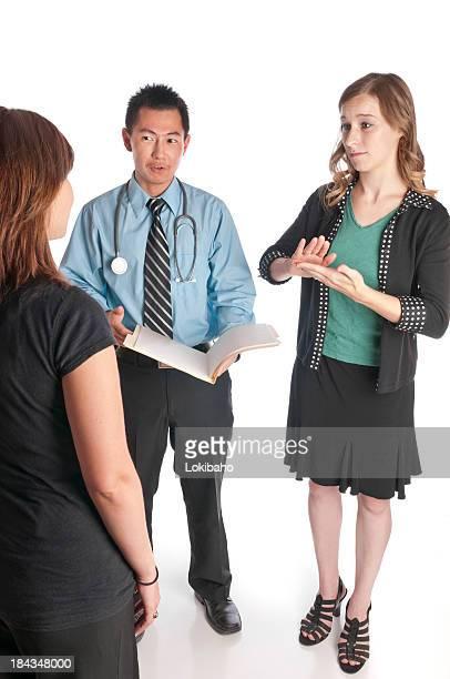 Gebärdensprache Medical interpretiert