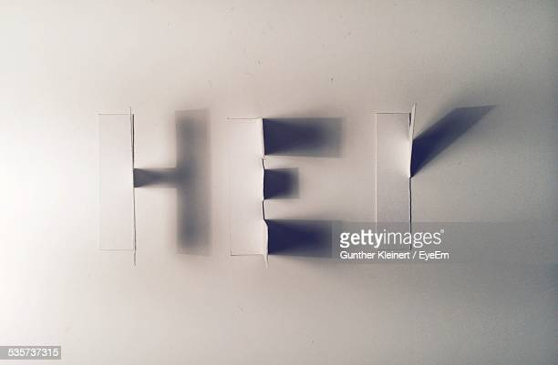 Sign Made Of Shadows