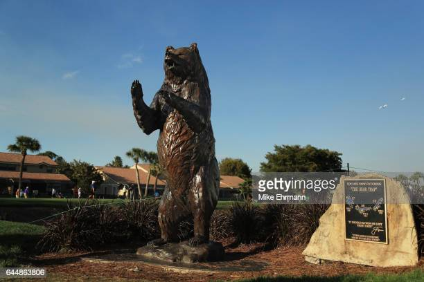 A sign marking the start of the Bear Trap is displayed during the first round of The Honda Classic at PGA National Resort and Spa on February 23 2017...