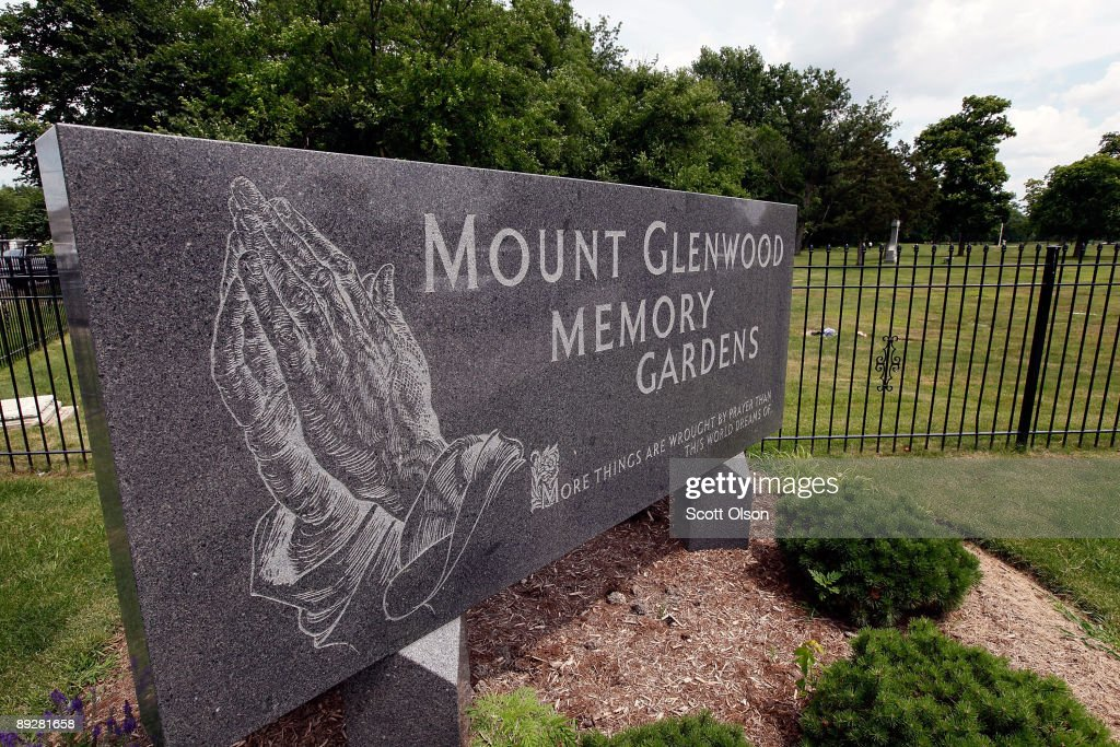 A Sign Marks The Entrance Of Mount Glenwood Memory Gardens Cemetery July 27 2009 Near