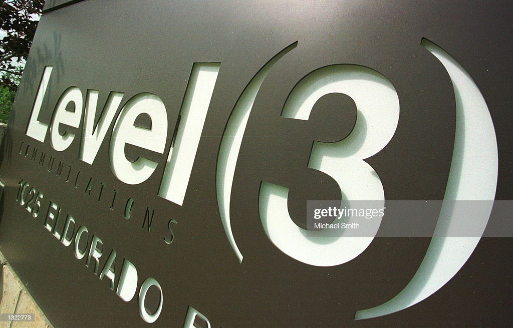 A sign marks the entrance to the Level 3 Communications campus June 18, 2001 in Broomfield, CO. The fiber-optic communications company is expected to announce cuts of 1,000 to 1,500 jobs due to lower than expected demand for massive communications networks.