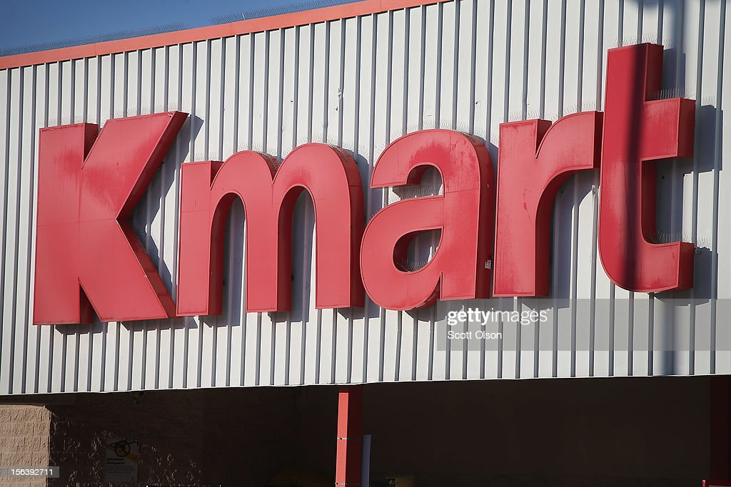 A sign marks the location of a Kmart store on November 14, 2012 in Chicago, Illinois. Sears Holdings (SHLD), which owns Kmart, will report 3rd quarter earnings tomorrow afternoon. After a lackluster 2011 holiday season the retailer announced plans to close 120 Sears and Kmart stores.