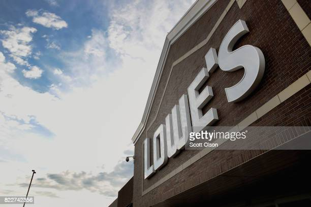 A sign marks the location of a Lowe's home improvement store on July 25 2017 in Chicago Illinois A shortage of new singlefamily homes in the US is...