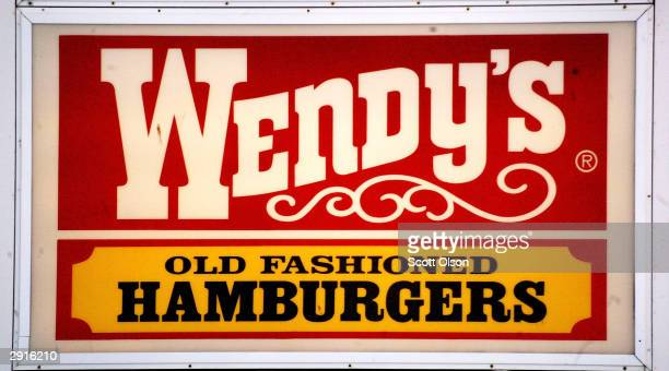 A sign marks the location of a Wendy's restaurant January 30 2004 in Chicago Illinois Wendy's the nation's third largest hamburger chain announced...