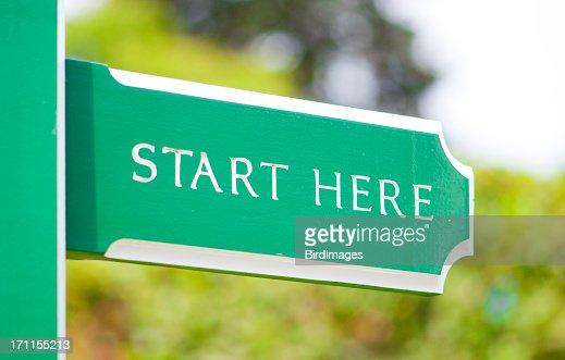 Sign - New Start or Beginning Concept