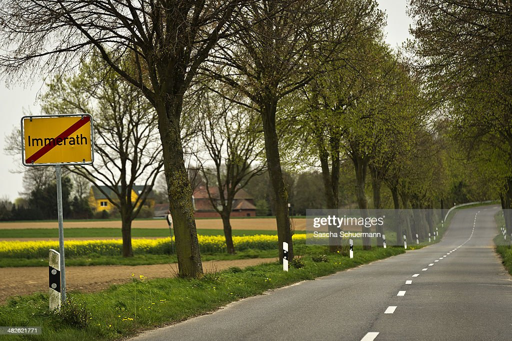 A sign next to an empty road is pictured on April 3, 2014 in Immerath, near Erkelenz, western Germany. The small town of Immerath and surrounding towns belonging to Erkelenz will be wiped off the map to allow energy giant RWE enlarge the huge open pit mine Garzweiler. A recent European Union study rated the Neurath power plant as the biggest emitter of CO2 in Germany, with 33.3 million tons in 2013, making it the second biggest in Europe. Owned by energy conglomerate RWE, the Neurath plant began operation in the 1970s and expanded with added blocks in 2012. It currently produces 4,400 megawatts of electricity annually, making it also the second biggest electricity producer in Europe.