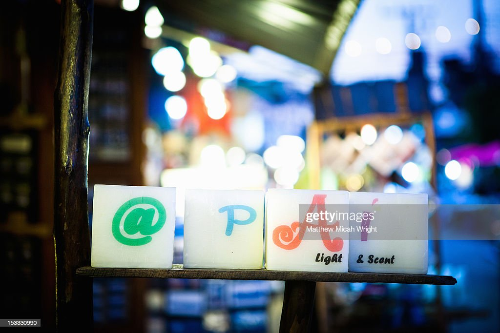 A sign notifiying that you are in Pai. : Stock Photo