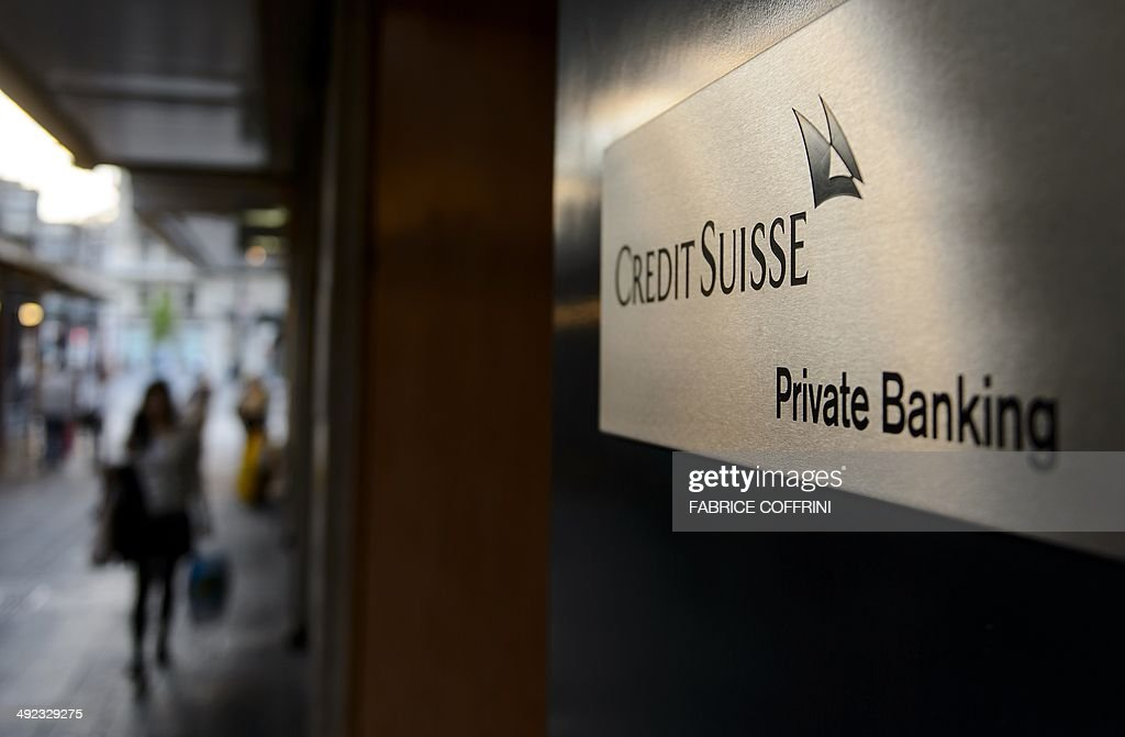 A sign of a Credit Suisse private banking branch is seen on May 19 2014 in Geneva Switzerland The United States hit Credit Suisse with criminal...
