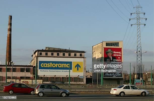 Sign of catorama and MediaMarkt in Kattowitz
