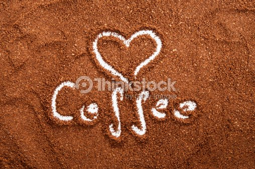 Sign Of Heart Made In Ground Coffee Stock Photo Thinkstock
