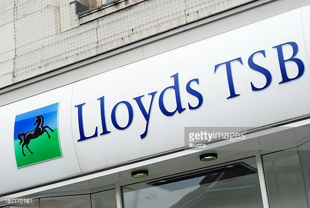 Sign of Lloyds TSB bank in Liverpool