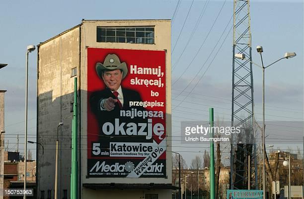 Sign of MediaMarkt in Kattowitz