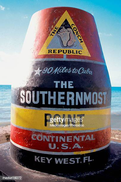 Sign of the Southernmost Point in the Continental United States in Key West, Florida, USA