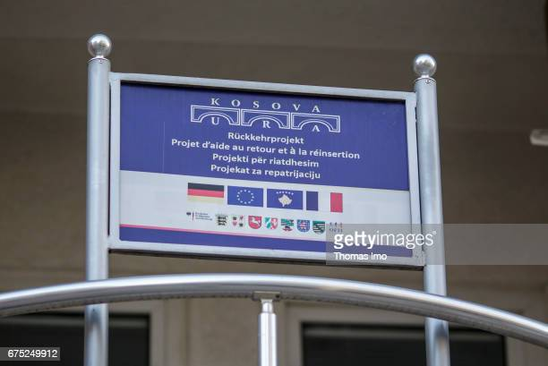 Sign of the URA project for the reintegration of returners from Germany on March 29 2017 in Pristina Kosovo