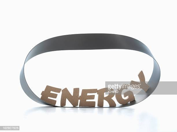 'ENERGY' sign on a mebius strip.