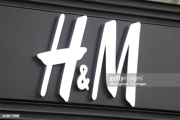 A HM sign on ChampsElysees Paris