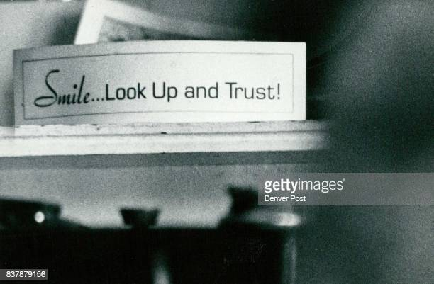 Sign on Mrs Newman's mantle is aptshe's under five feet and relies on the help of friends Credit Denver Post