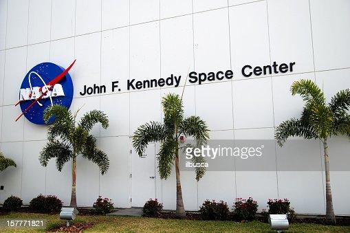 Sign on NASA John F Kennedy Space Center