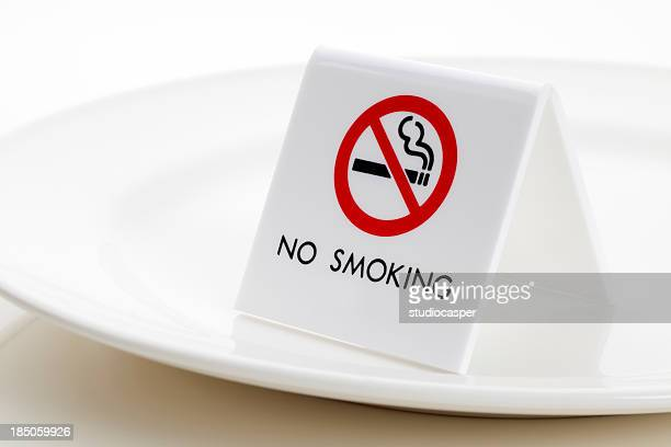 NO SMOKING sign on Plate