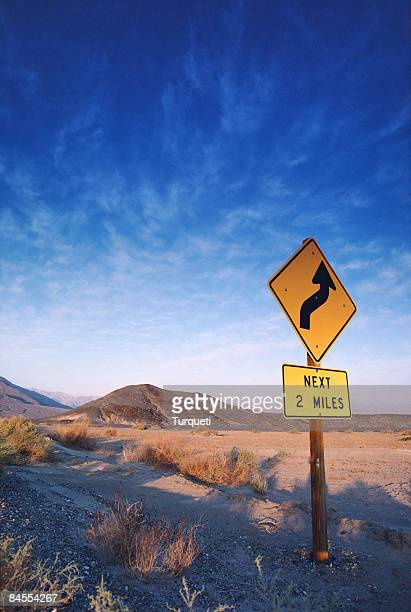 Sign on the death valley road