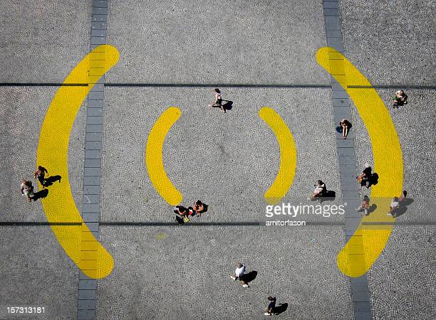 WIFI sign on the ground
