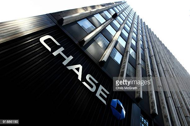 A sign on the outside of a Chase bank branch October 14 2009 in New York City JP Morgan Chase Co reported large thirdquarter earnings of 36 billion...