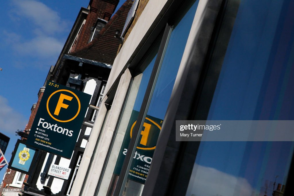 A sign on the side of Foxtons Estate Agents in Marylebone on September 20, 2013 in London, England. Foxtons has been valued at £649 million ahead of its full stock market listing. Shares in the company were priced at GBP 2.30 each.