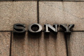 A sign outside of Sony's New York headquarters is viewed on April 10 2012 in New York City Sony the Japanese electronics company has more than...