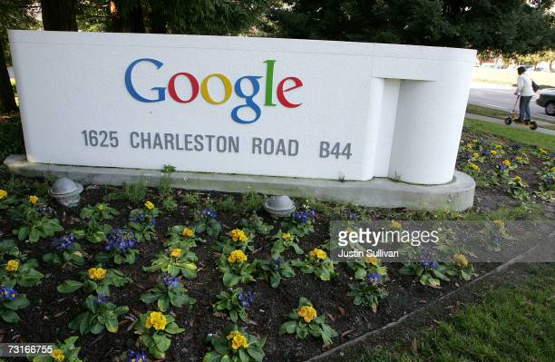 A sign outside of the Google headquarters is seen January 31 2007 in Mountain View California Google Inc reported its fourth quarter earnings today...