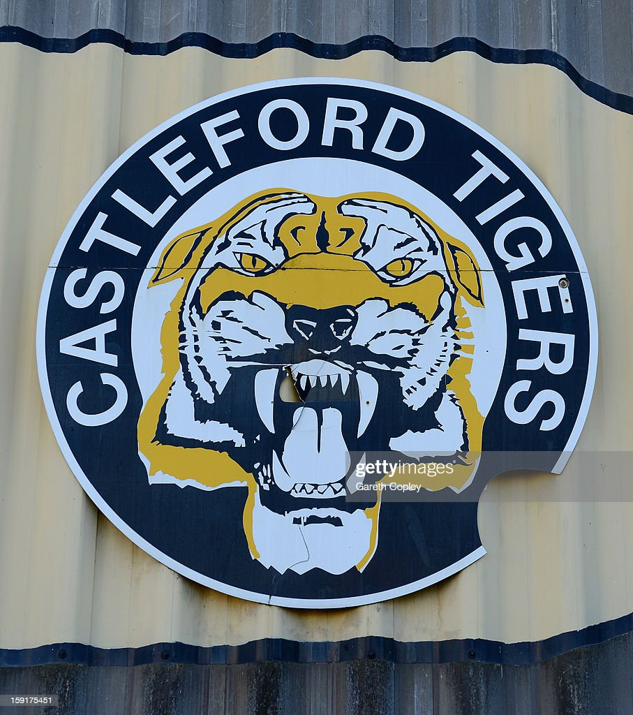 Sign outside Wheldon Road, home of the Castleford Tigers on January 9, 2013 in Castleford, United Kingdom.