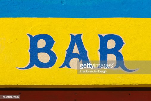 BAR sign : Stock Photo
