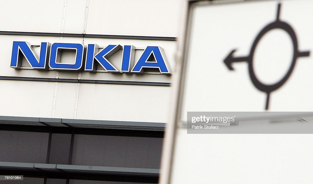 A sign pictured in front of Finland's mobile phone manufacturer Nokia company's plant on January 18, 2008 in Bochum, Germany. A confederation of German unions warned that the decision by Nokia to close its plant in Bochum threatened the region's economic future.