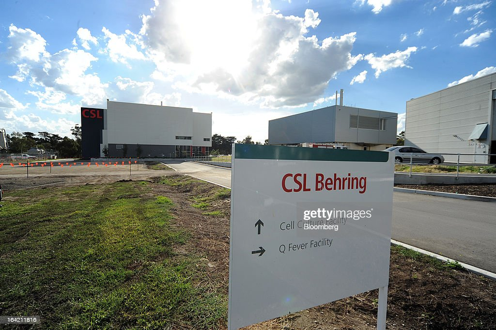 A sign points to different sections of the CSL Behring plasma processing facility, a unit of CSL Ltd., in Melbourne, Australia, on Wednesday, March 20, 2013. CSL, the world's second-biggest maker of blood-derived therapies, is taking a hard look at its non-plasma businesses as incoming head Paul Perreault tries to assess their growth prospects. Photographer: Carla Gottgens/Bloomberg via Getty Images