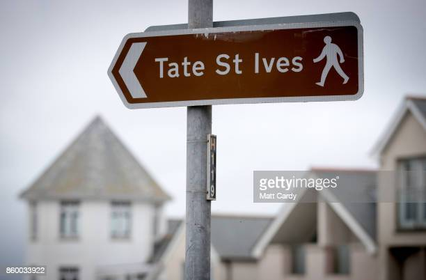 A sign points to the Tate St Ives which is set to reopen to the public this weekend after a fouryear £20 million transformation in St Ives on October...