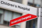 A sign points towards the Accident and Emergency department of St Thomas' Hospital on October 13 2011 in London England Inspections carried out by...