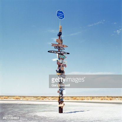 Sign post in the desert