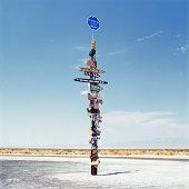 Sign post in the desert