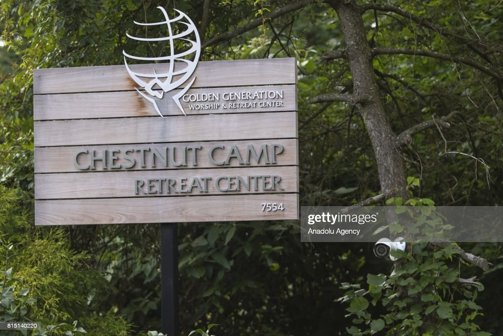 A sign reading 'Chestnut Camp Retreat Center' is seen outside of the Fetullah Terrorist Organization (FETO) compound where Fetulah Gulen resides in Saylorsburg, PA., United States on July 15, 2017. 249 people were martyred and nearly 2,200 people injured in the defeated 15th of July 2016 coup attempt, which the Turkish government said was carried out by the Fetullah Terrorist Organization (FETO) led by U.S.-based Turkish citizen Fetullah Gulen. Turkish officials accuse Fetullah Gulen plotting to overthrow the government of President Erdogan as the culmination of a long running campaign to infiltrate Turkish institutions including the military, the police and the judiciary.