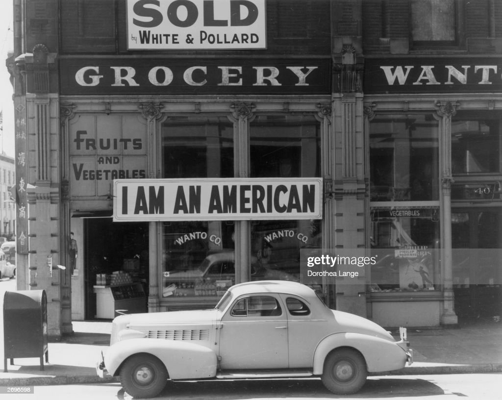 The day after Pearl Harbour (Pearl Harbor) and following evacuation orders for Japanese living in America the owner of this shop in Oakland, California, who is a University of California graduate of Japanese descent, put this notice across his shop front.