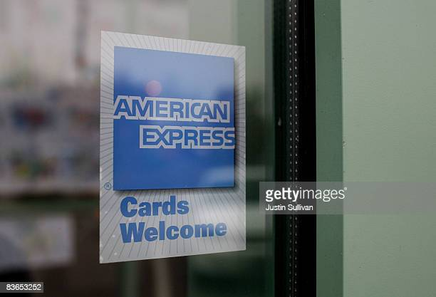 A sign showing the American Express logo is seen outside of a restaurant November 11 2008 in Des Plaines Illinois American Express won federal...
