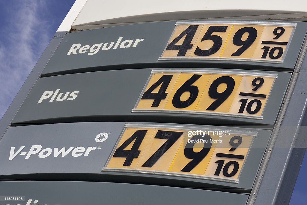 A sign showing the price for gasoline is displayed at a Shell gas station on April 27, 2011 in San Francisco, California. The average price for a gallon of regular gasoline in California increased 1.2 cents to $4.217 getting closer to the all time high of $4.588.