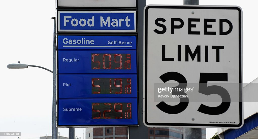 A sign shows gas prices over $5 a gallon for regular unleaded at a Chevron service station on March 5, 2012 in Los Angeles, California. According to AAA the average price of regular unleaded gasoline climbed three-tenths of a cent nationwide as a result of high oil prices and tensions tied to Iran's nuclear program.