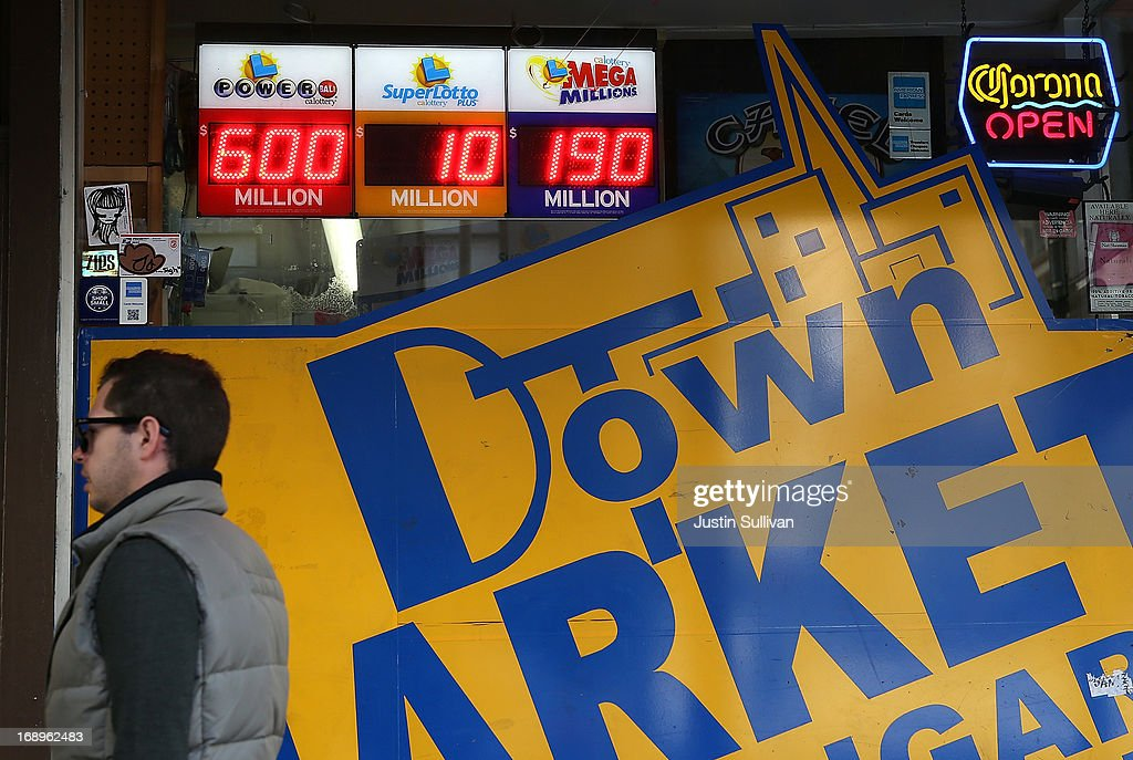 A sign shows the Powerball jackpot at $600 million on May 17, 2013 in San Francisco, California. People are lining up to purchase $2 Powerball tickets as the multi-state jackpot hits $600 million.