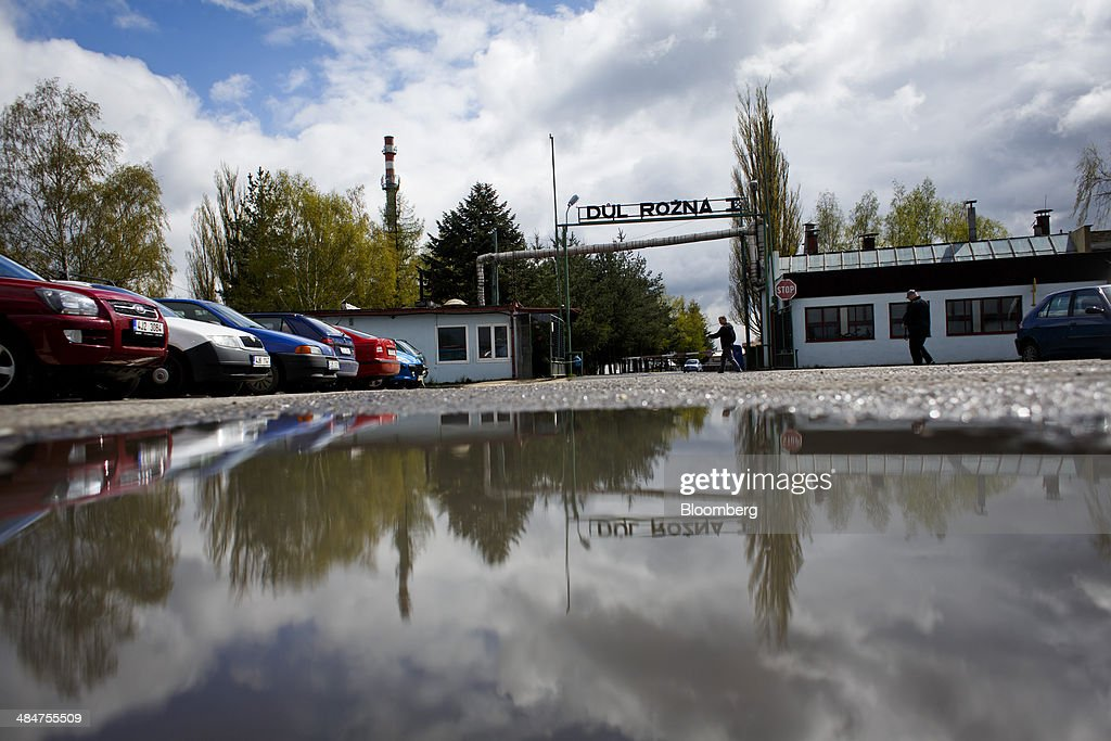 A sign stands at the Rozna uranium mine operated by Geam a division of Diamo SP mining company in Dolni Rozinka Czech Republic on Thursday April 10...