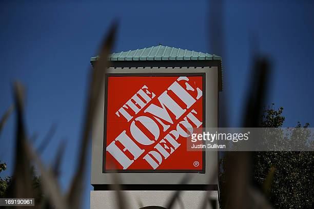 A sign stands in front of a Home Depot store on May 21 2013 in El Cerrito California Home Depot reported an 18 percent surge in first quarter income...