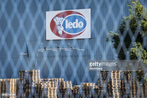 A sign stands on the exterior of the Ledo dd ice cream plant operated by Agrokor dd in Zagreb Croatia on Monday June 12 2017 Croatian retailer...