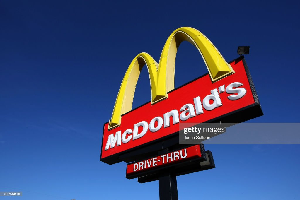 A sign stands outside of a McDonald's restaurant February 9 2009 in San Francisco California Fast food chain restaurant McDonald's reported a 71...