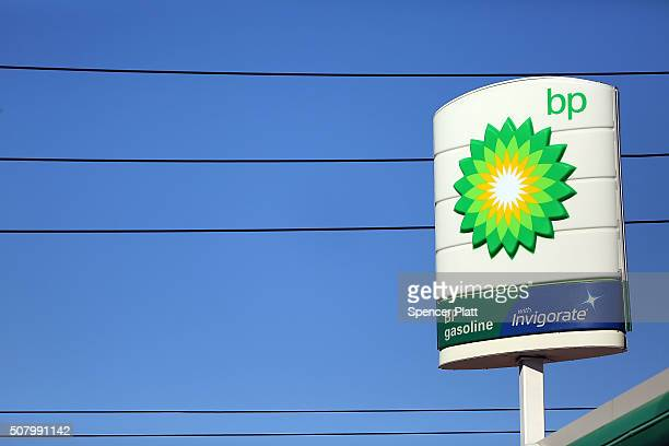 BP sign stands over a gas station in Brooklyn on February 2 2016 in New York City The oil industry giant reported on Tuesday a $33 billion...