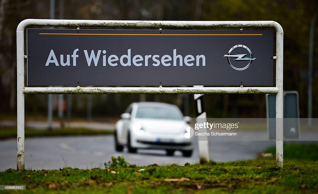 A sign stating 'goodbye' stands in front of the Opel factory on December 5 2014 in Bochum Germany Bochum's Opel car factory is closing after 52 years...